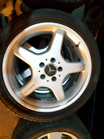 Mercedes AMG styling 3 18 inch alloy wheels rim with tyre