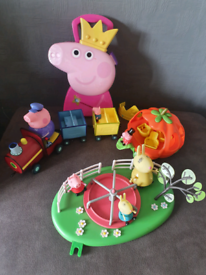 Peppa pig bundle roundabout Pumpkin carriage, train
