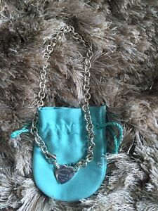 STUNNING AUTHENTIC TIFFANY HEART TAG CHOKER FOR SALE!