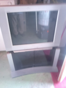 """32"""" Sony Trinitron Tv With Stand For Sale"""