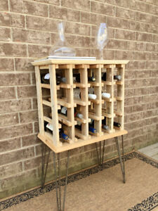 Wine Rack made from Reclaimed Wood – holds 20 bottles