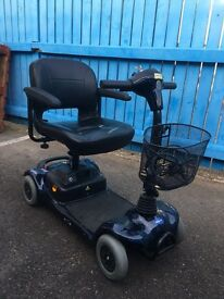 Invacare Lynx portable mobility scooter in blue with 3 months warranty