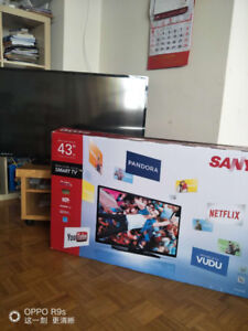 43'' smart TV+TV stander +  powerful antenna