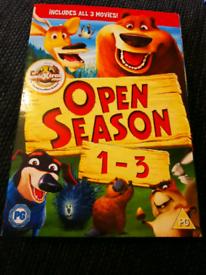 Open Season Dvd 1, 2 And 3 Boxset