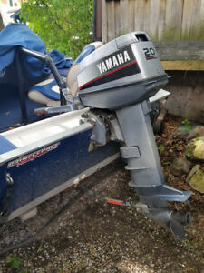 Outboard motor for sale, 20hp Yamaha.