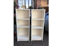 A PAIR OF WHITES SHELVES/BOOKCASES