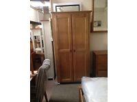 Solid oak wardrobe new in