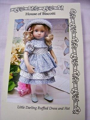 """Effner 13"""" Little Darling PATTERN Ruffled Dress and Hat"""