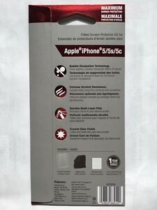 Maximum Protection Screen Protector for iPhone 5/5S/5C -2 Pack London Ontario image 2