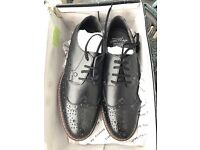 Brandnew Men's Firetrap Shoes in black size 8 cheap cams sale gift him formal new laced leather gent