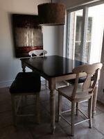 mobilier de cuisine style Bistro