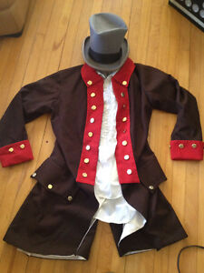 Vintage Willy Wonka / Mad Hatter / Clown Costume Sz Med - Large