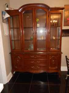 Dining Set : Table-Chairs-Buffet-Hutch