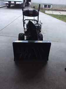 Yardworks electric and manual start snow blower