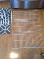 3 wire rack shelves with supports