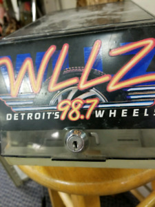 Old clear computer Box WLLZ 98.7 - blast from the past