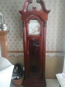 Grandfather clock cabinet