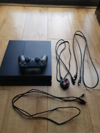 Sony playstation 4 (PS4) console and controller