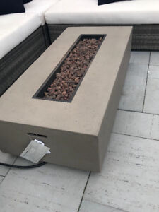 Stone Propane Outdoor fire Pit
