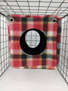 "Seamless, Reversible, 8"" Fleece Cube -Red Plaid"