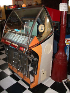 1954 jukebox Seeburg HF 100R  100 sel  45rpm inclus