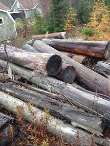 assorted logs and wood/. and rail ties.. for sale: contact: St. John's Newfoundland image 1