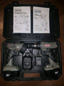 Drill and work light set.