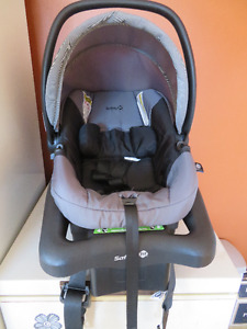 Car seat and base for small baby