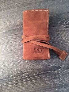Watch & Jewelry Suede Roll - Leather Bag