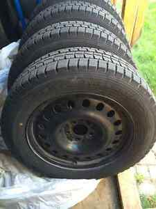 Nearly New Snow Tires and Rims