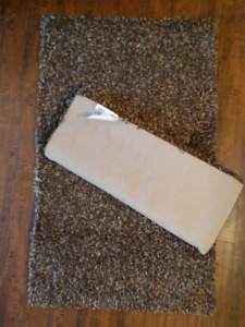 2 brown and beige accent / shag / small area rugs