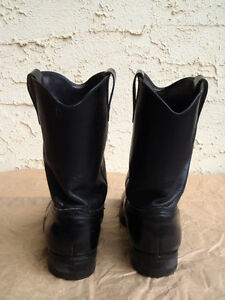 EUC Mens Black Leather Western Boots Williams Lake Cariboo Area image 3