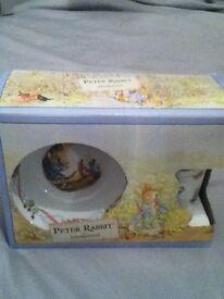 Peter Rabbit by Wedgwood 3 piece Christening Set