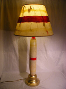 Table Lamp Set Made From Vintage Bowling Pins