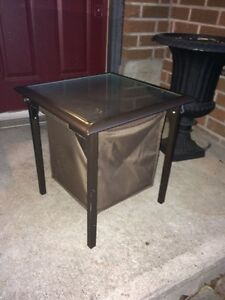Patio glass top table cooler