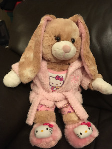 Build-a-Bear Bunny and accessories
