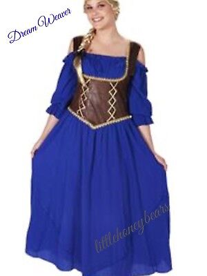 Renaissance Corset Purple Peasant Dress Adult Halloween Costume Size Medium - Corset Halloween Costume