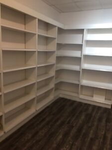 White bookcases - great condition