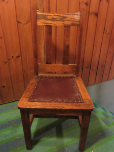 SOLID OAK DINNING ROOM CHAIR PROFESSIONALLY REFINISHED a
