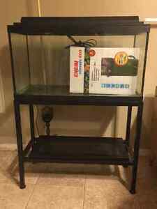 22 gallon fish tank with filter and stand
