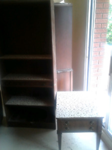 Shelve and side table