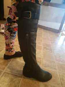 Knee high boots new black size 5.5