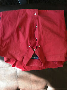 Red Ralph Lauren XXL Collared Shirt