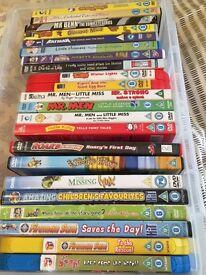 Assortment of 22 kids DVD's.