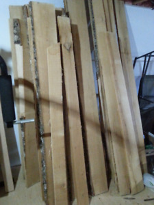 Rough saw Maple boards