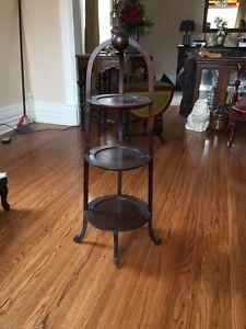 Antique tables, plant stand & more