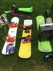 Snowboards and bindings