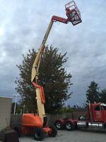 JLG 600AJ aerial man lift boom
