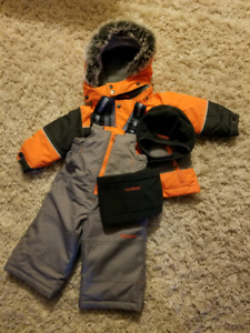 Brand new Oshkosh snowsuit, hat and neck warmer