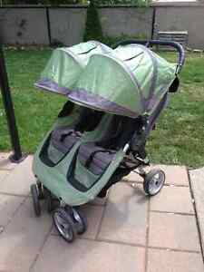 Poussette double Baby Jogger City Mini + support coquille